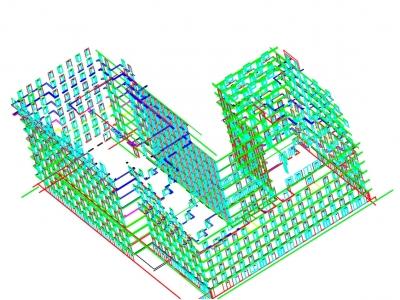 Фасадная съемка 3D гостиничного комплекса г. Москва ул. Хромова ,3 12270 м2