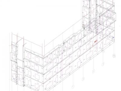 Фасадная съемка жилого здания , дер Дыдылдино , М.О. 1500 м2