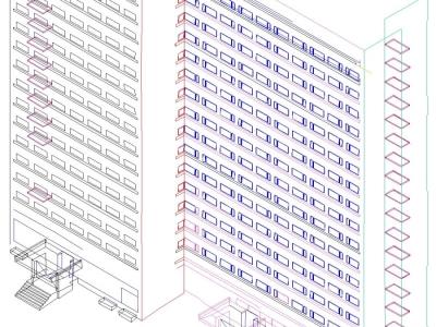 Фасадная съемка здания гостиницы Севастополь к7 , г. Москва ,м.Севастопольская 9000 м2